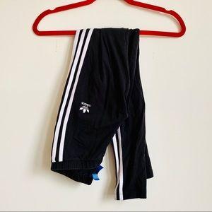 Adidas | Trefoil Black 3 Striped Leggings